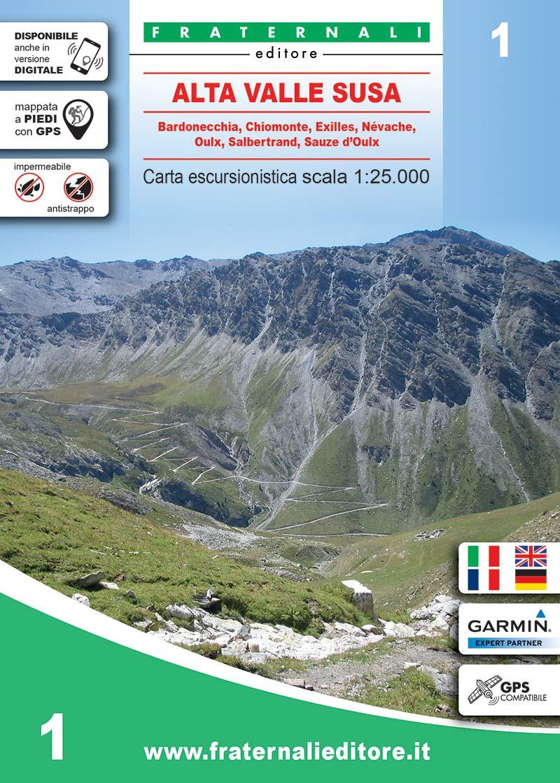 Bardonecchia Cartina Geografica.1 Alta Valle Susa Fraternali Editore