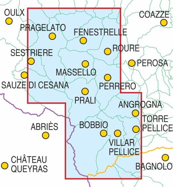 mappe escursionismo fraternali editore Quadro-Unione-scialp-Pellice-Chisone