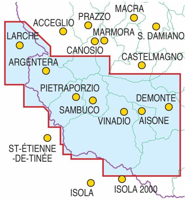 mappe escursionismo fraternali editore Quadro-Unione-scialp-Stura-Demonte
