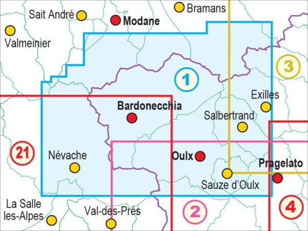 mappe escursionismo fraternali editore Quadro unione 1