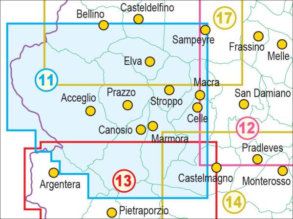 mappe escursionismo fraternali editore Quadro unione 11