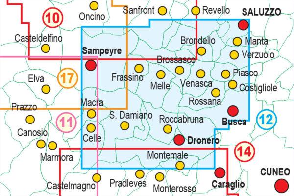 mappe escursionismo fraternali editore Quadro unione 12