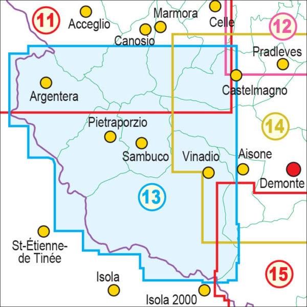 mappe escursionismo fraternali editore Quadro unione 13