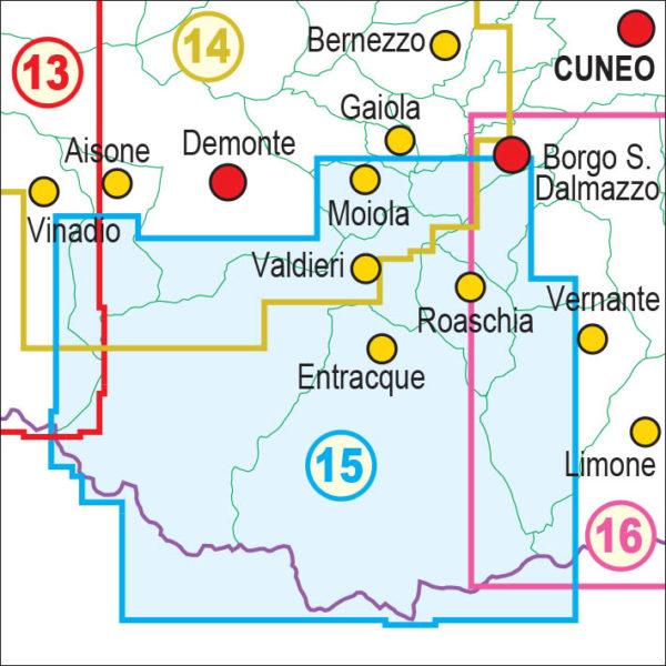 mappe escursionismo fraternali editore Quadro unione 15
