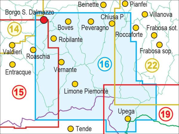 mappe escursionismo fraternali editore Quadro unione 16