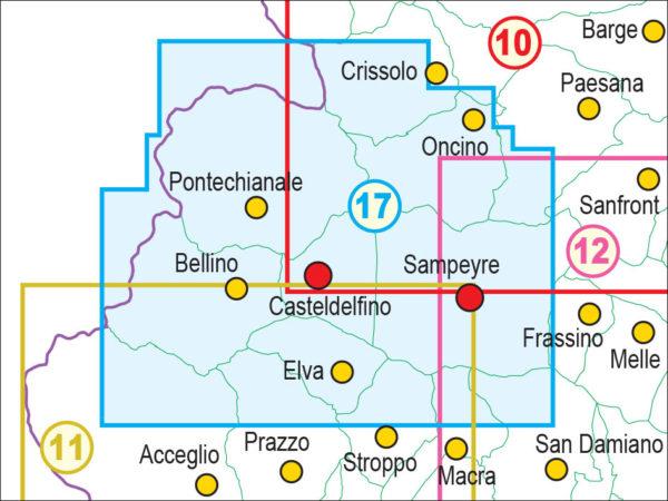 mappe escursionismo fraternali editore Quadro unione 17