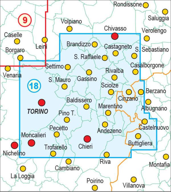mappe escursionismo fraternali editore Quadro unione 18