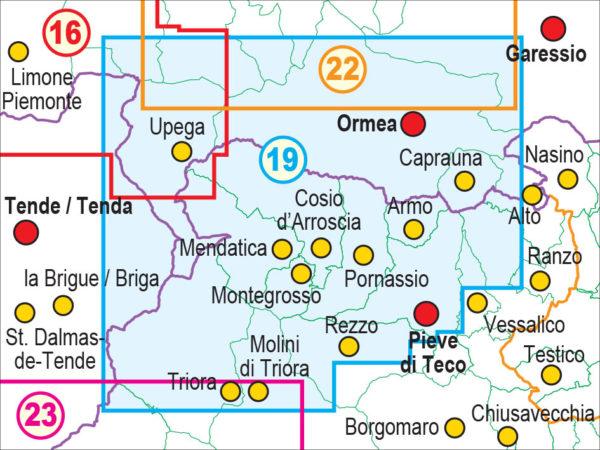 mappe escursionismo fraternali editore Quadro unione 19