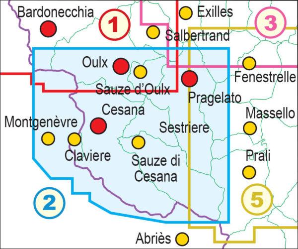 mappe escursionismo fraternali editore Quadro unione 2