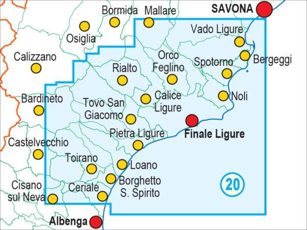 mappe escursionismo fraternali editore Quadro unione 20