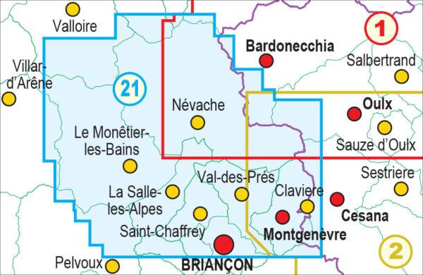 mappe escursionismo fraternali editore Quadro unione 21