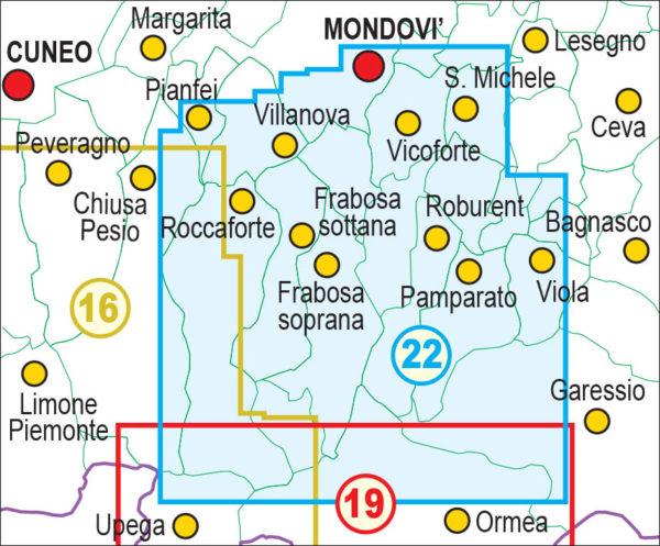 mappe escursionismo fraternali editore Quadro unione 22