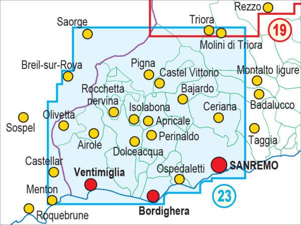 mappe escursionismo fraternali editore Quadro unione 23