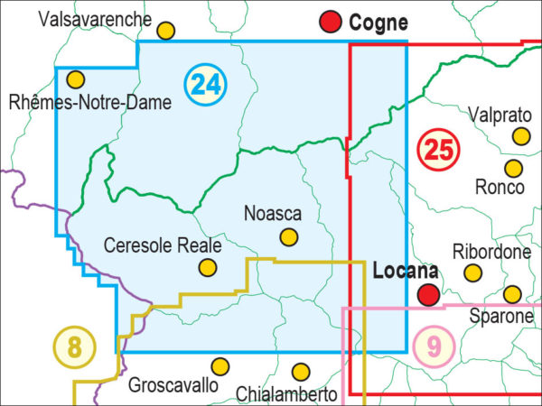 mappe escursionismo fraternali editore Quadro unione 24