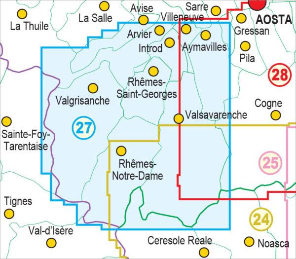 mappe escursionismo fraternali editore Quadro unione 27