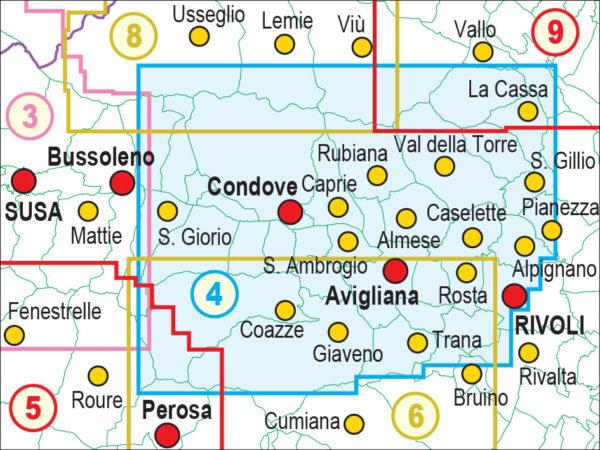 mappe escursionismo fraternali editore Quadro unione 4
