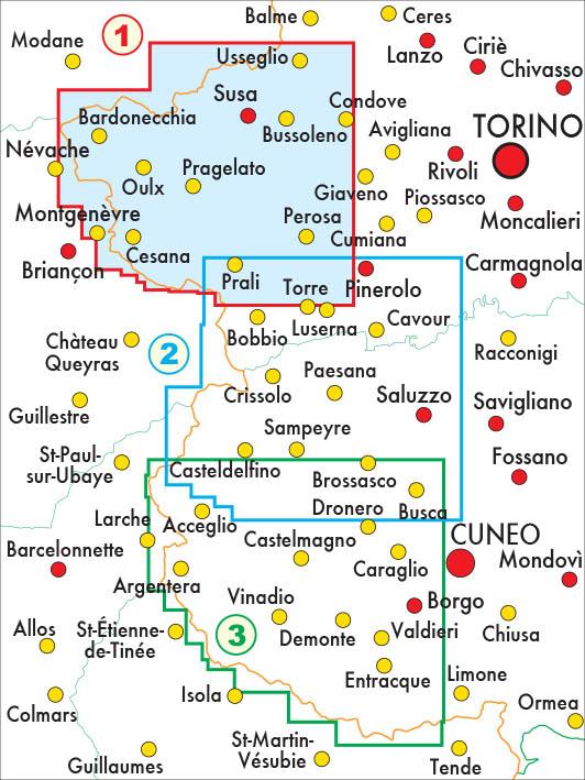 mappe escursionismo fraternali editore Quadro unione 50-1