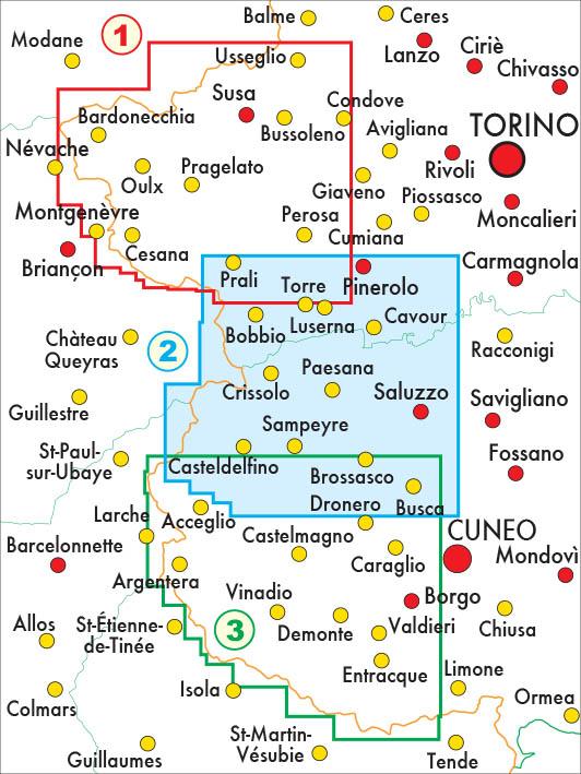 mappe escursionismo fraternali editore Quadro unione 50-2