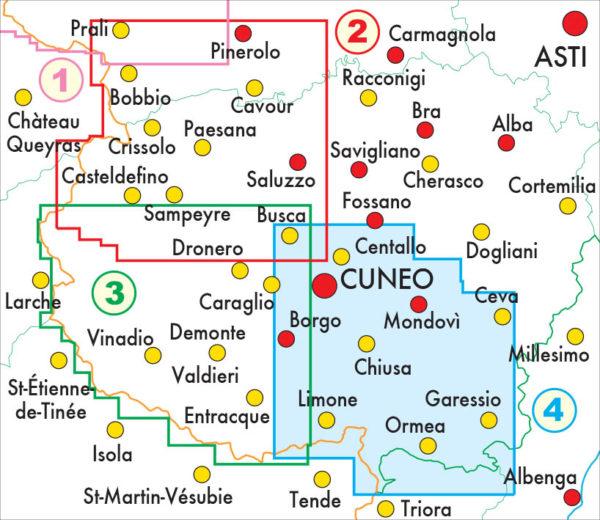 mappe escursionismo fraternali editore Quadro unione 50-4