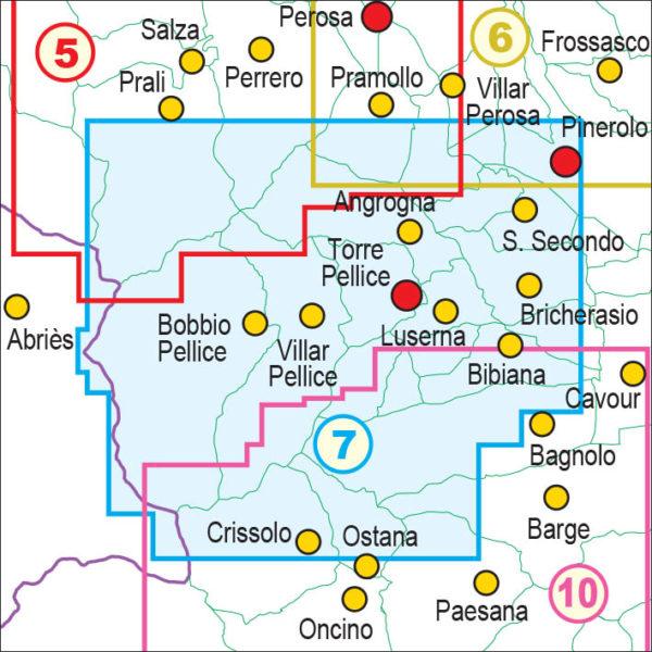 mappe escursionismo fraternali editore Quadro unione 7