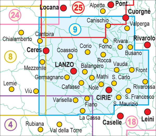 mappe escursionismo fraternali editore Quadro unione 9