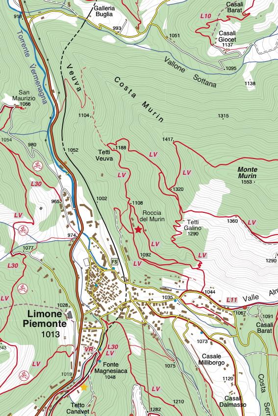 Cartina Militare Piemonte.16 Val Vermenagna Valle Pesio Alta Valle Ellero Fraternali Editore
