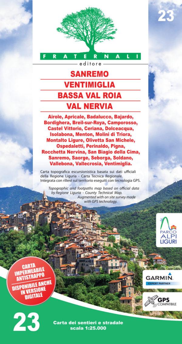 23 mappa-escursionismo-Sanremo-Ventimiglia-Bassa-Val-Roia-Val-Nervia-fraternali-editore