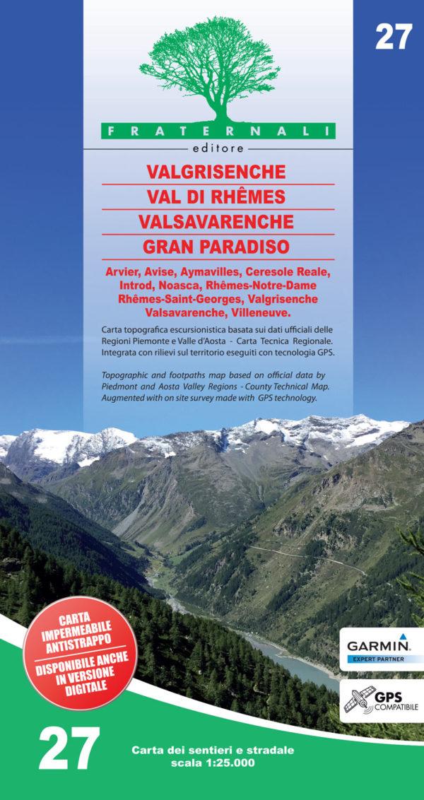 27 mappa-escursionismo-valgrisenche val di rhemes valsavarenche gran paradiso-fraternali-editore