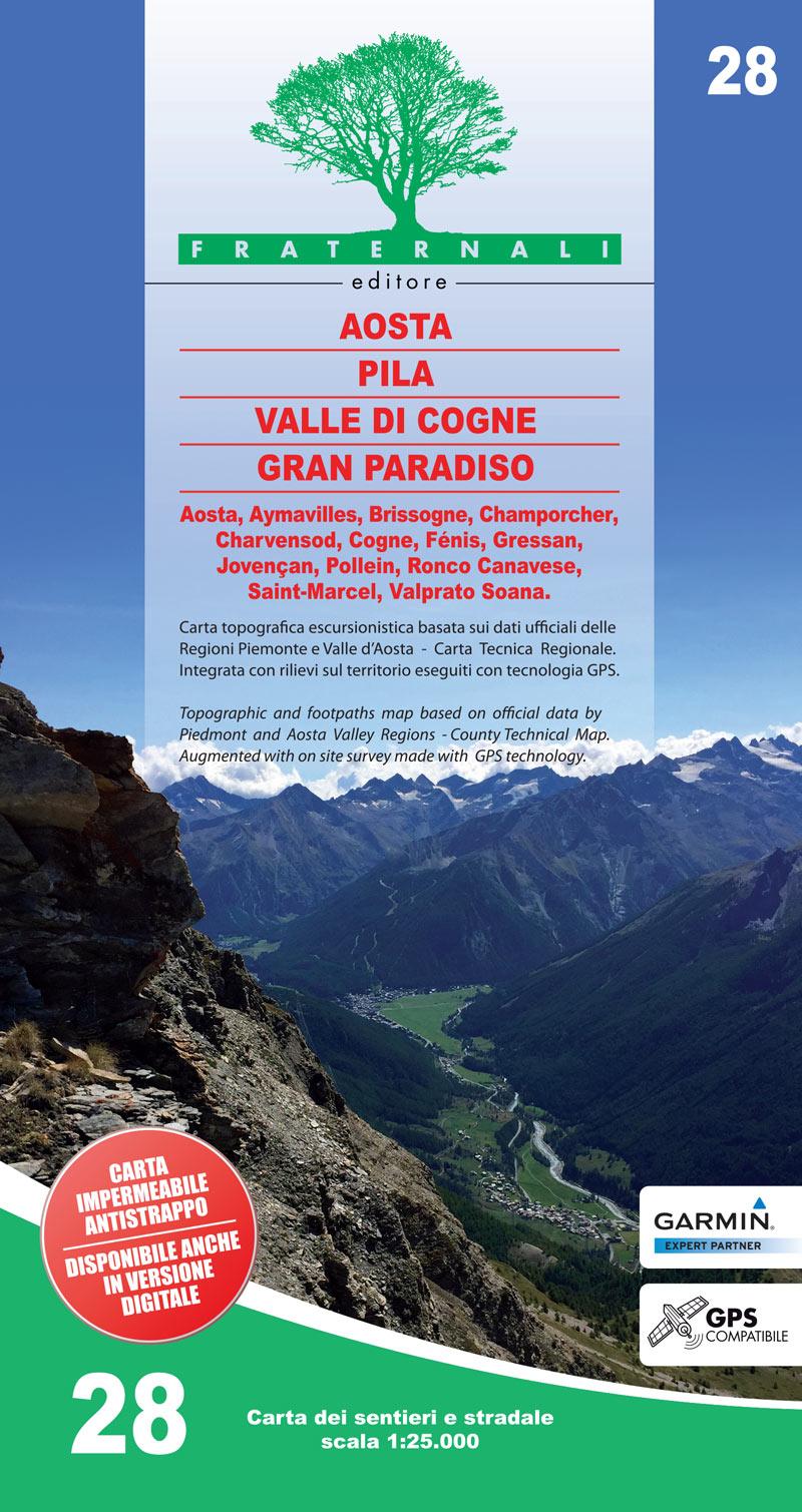 Cartina Militare Piemonte.28 Aosta Pila Valle Di Cogne Gran Paradiso Fraternali Editore