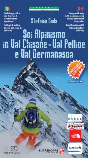 Mappa Sci Alpinismo in Val Chisone, Val Pellice e Val Germanasca