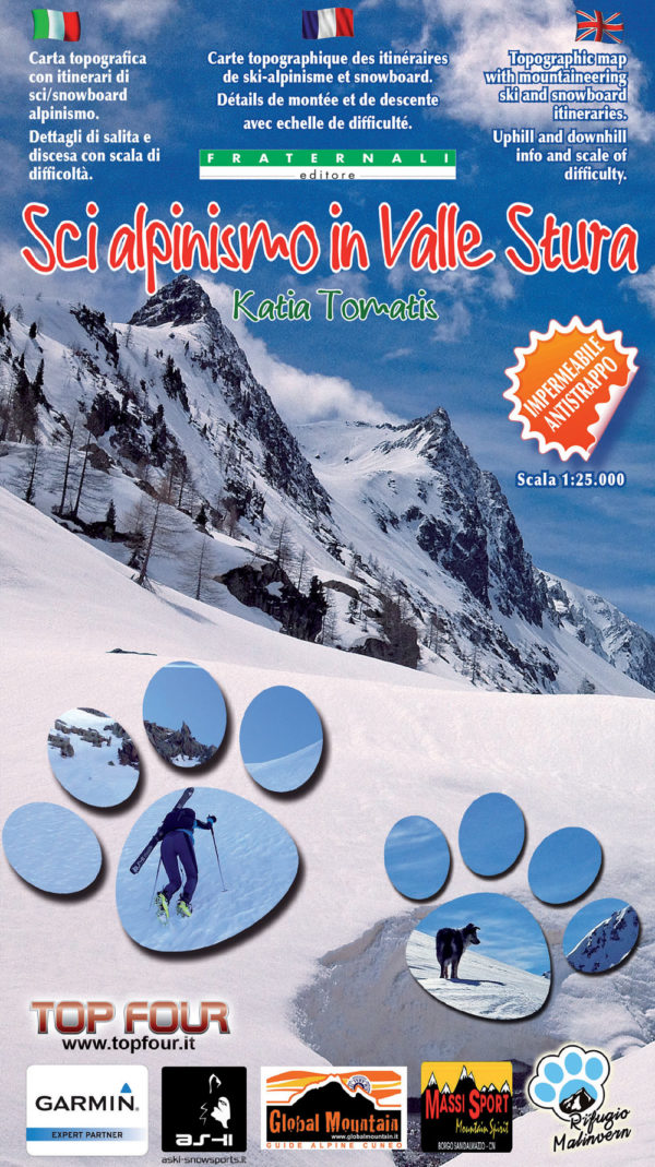mappa 1 25000 Sci alpinismo in Valle Stura