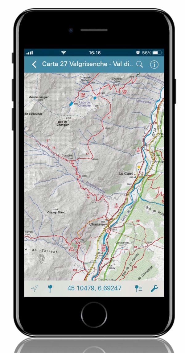 mappa digitale fraternali editore 27 Valgrisenche - Val di Rhemes - Valsavaranche - Gran Paradiso