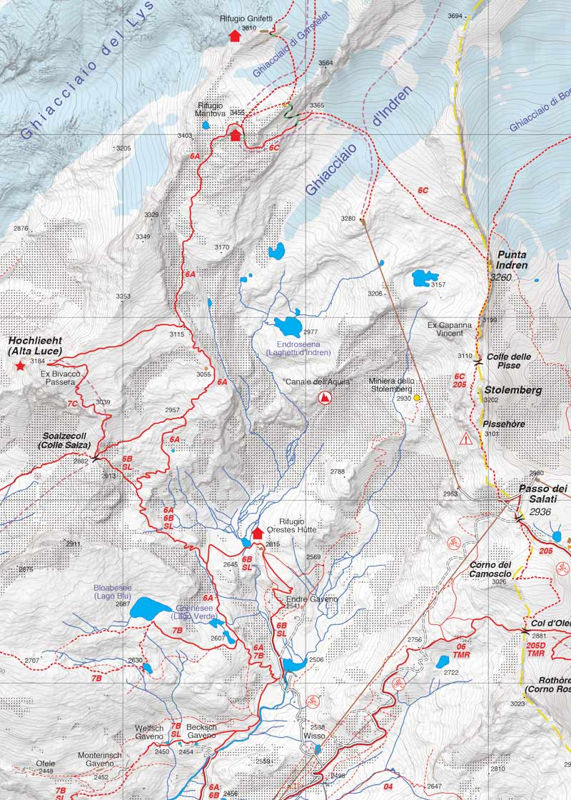 Cartina Stradale Valle D Aosta.33 Monte Rosa Alta Valle Di Gressoney Alta Val D Ayas Fraternali Editore
