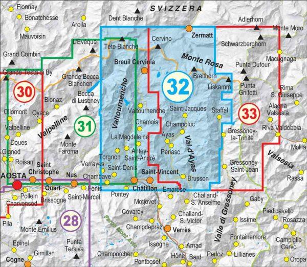 Quadro-unione-32-Monte-Cervino-Valtourneche-Alta-Val-dAyas-FRATERNALI-MAPPE-ESCURSIONISMO