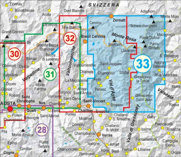 Quadro-unione-33-Monte-Rosa-Alta-Valle-di-Gressoney-Alta-Val-dAyas-FRATERNALI-MAPPE-ESCURSIONISMO