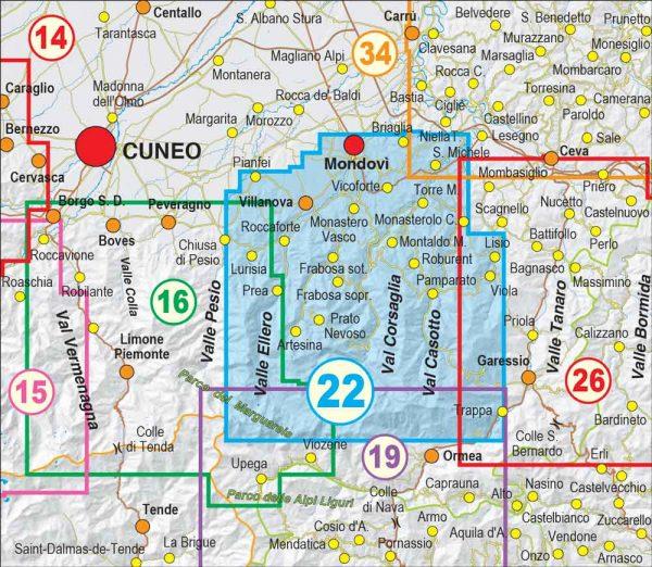 Quadro-unione-22- Mondovì, Val Ellero, Val Maudagna, Val Corsaglia, Val Casotto