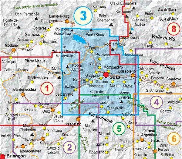 Quadro-unione-3- Val Susa, Val Cenischia, Rocciamelone, Val Chisone